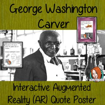 Washington Carver Interactive Quote Poster Quote