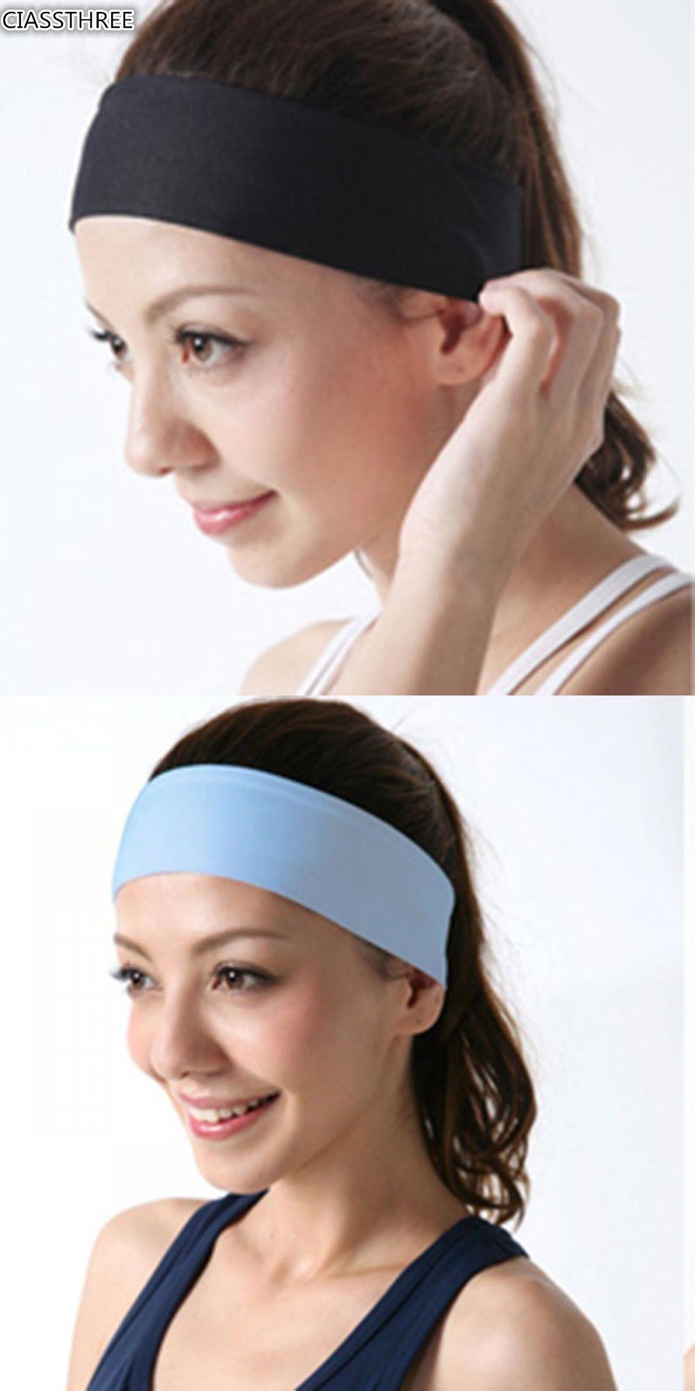 100% Cotton Women Men Thick Tower Sports Headband Tennis Badminton  Basketball Sweatband Head Band Yoga 851b3a758a7