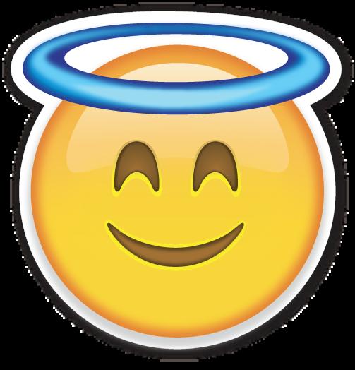 Smiling Face With Halo Emojis Emoticones De Whatsapp Imagenes De Emojis