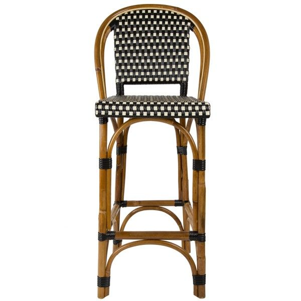 Black And Cream Bar Height Mediterranean Bistro Bar Stool With Back 29 Bar Stools With Backs Stools With Backs Bar Stools