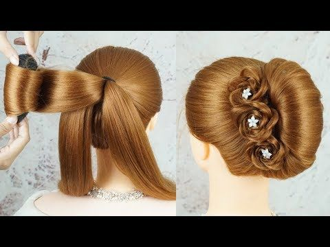 Easy French Bun Hairstyle With Using Clutcher French Roll Hairstyle Party Wear Bun Hairstyles Youtube In 2020 French Roll Hairstyle Roll Hairstyle Bun Hairstyles