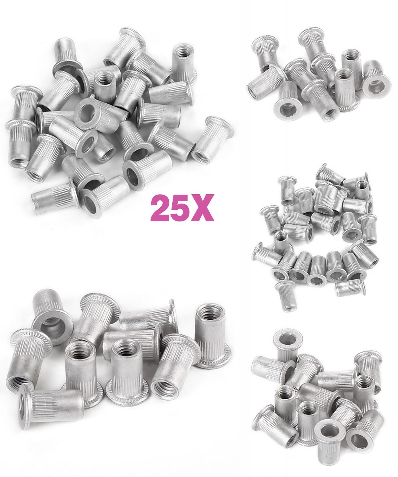 Visit To Buy 25pcs M5 Flat Head Aluminum Rivets Nuts Threaded Inserts Nutserts Rivnut Clh Advertisement Flat Head Stuff To Buy Rivets
