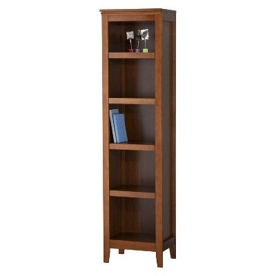Carson Narrow 5 Shelf Bookcase