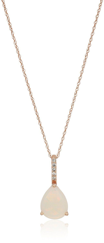 Fine Jewelry 10K Tricolor Gold Pear Shaped Pendant Necklace YOJI2