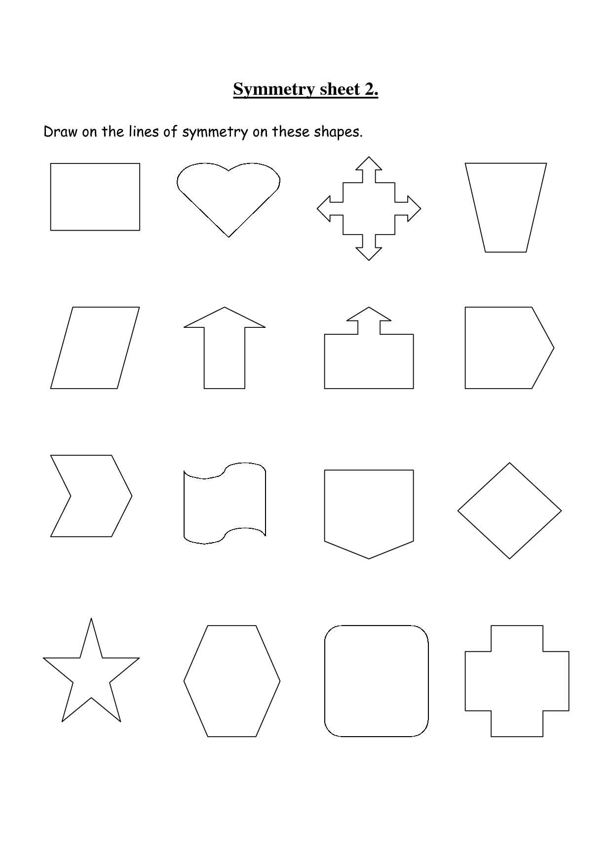 small resolution of Rotational Symmetry Worksheets   Symmetry worksheets