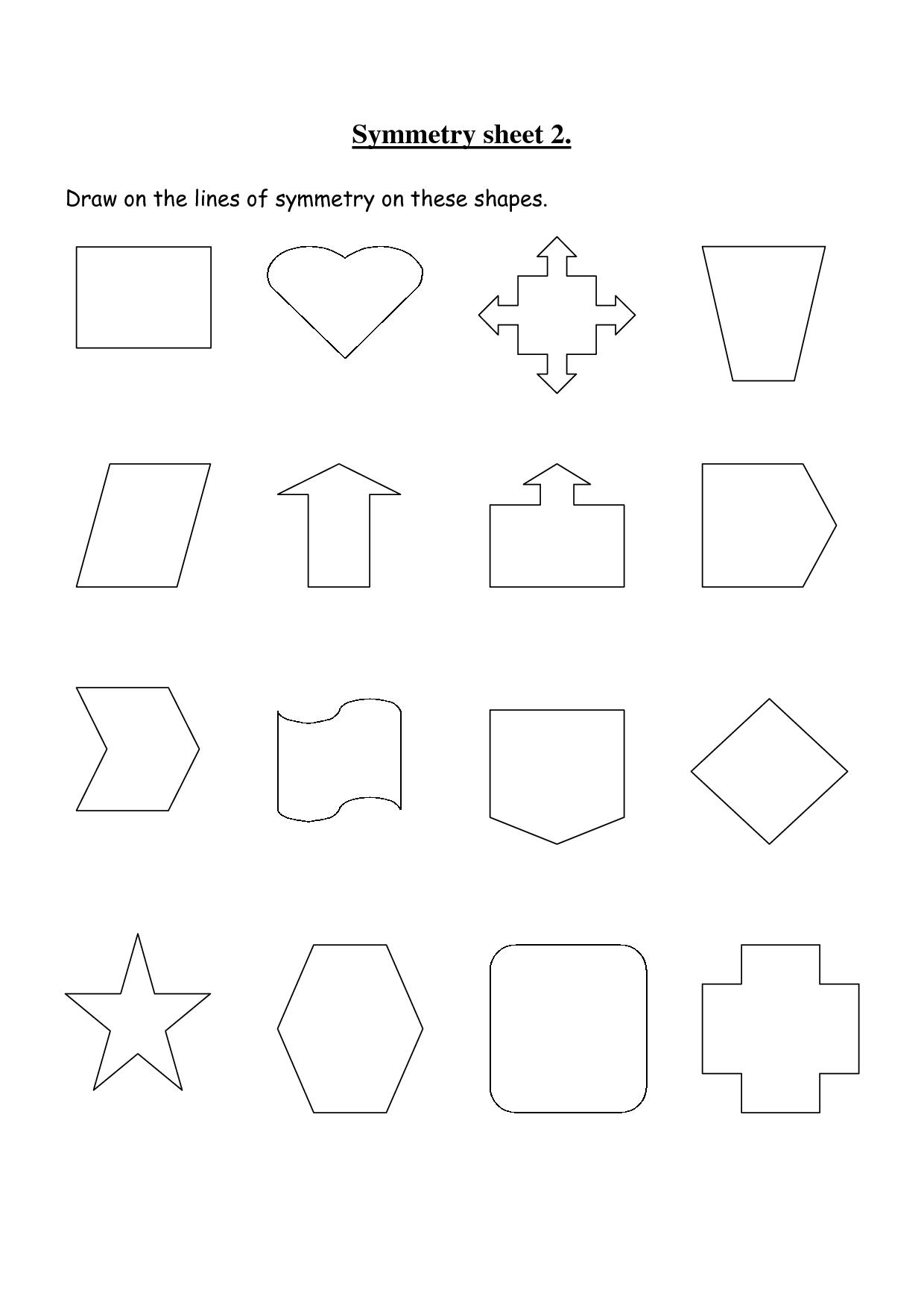 Rotational Symmetry Worksheets