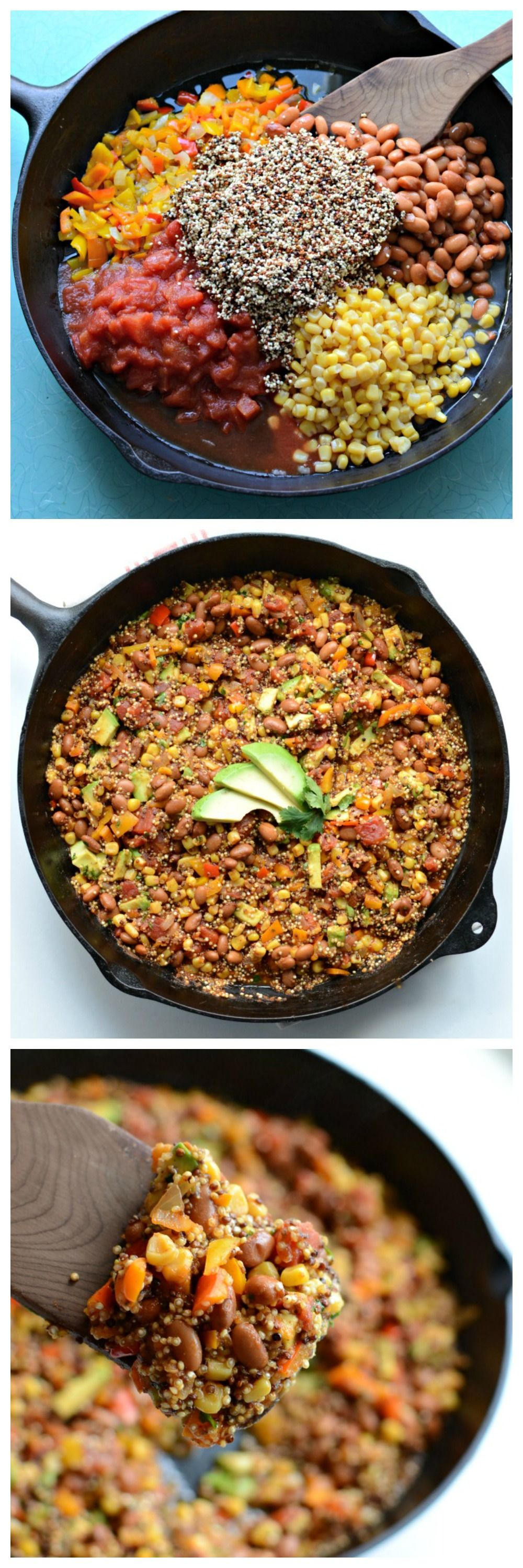The best one pot meal out there, TACO CASSEROLE!  Plus, I love this has quinoa!