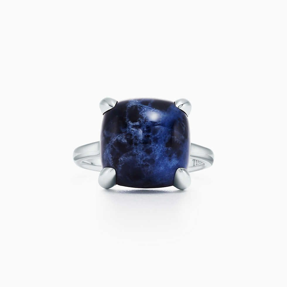 dab54645f Elsa Peretti® Cabochon ring in 18k gold with rock crystal, mini. | Tiffany  & Co.