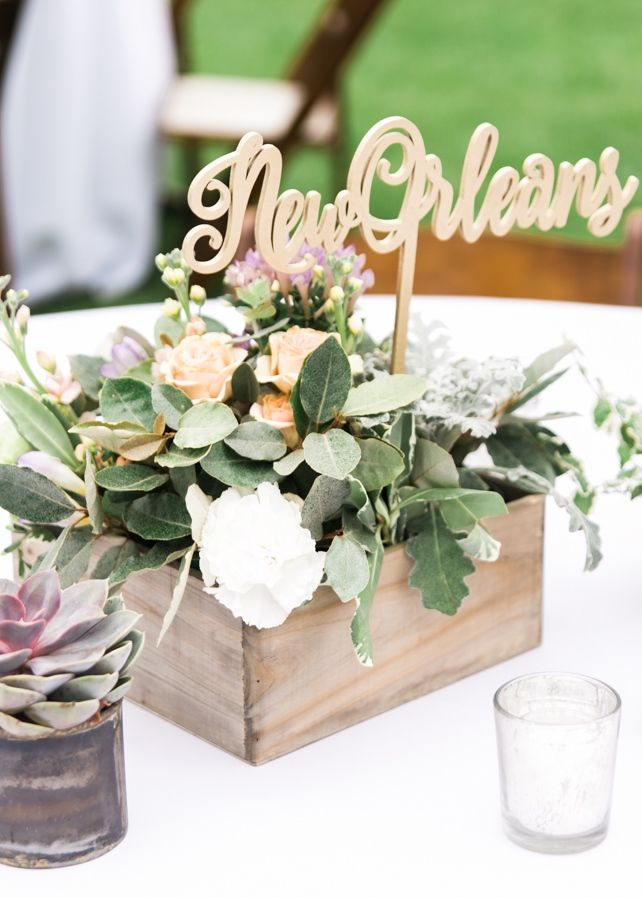 Mismatched Travel Themed Wedding Centerpieces Outdoor Wedding