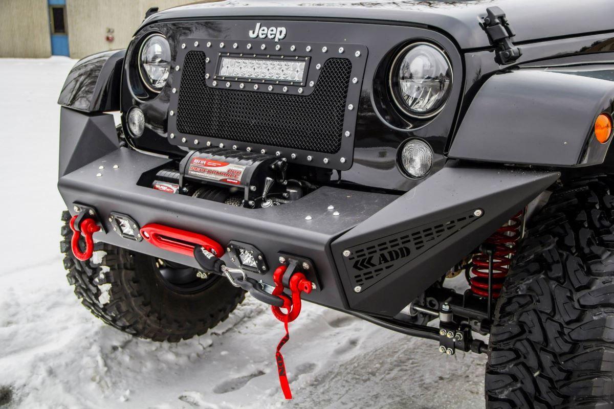 Jeep Jk Stealth Fighter Front Bumper Add Offroad Jeep Jk Jeep Front Bumpers Jeep