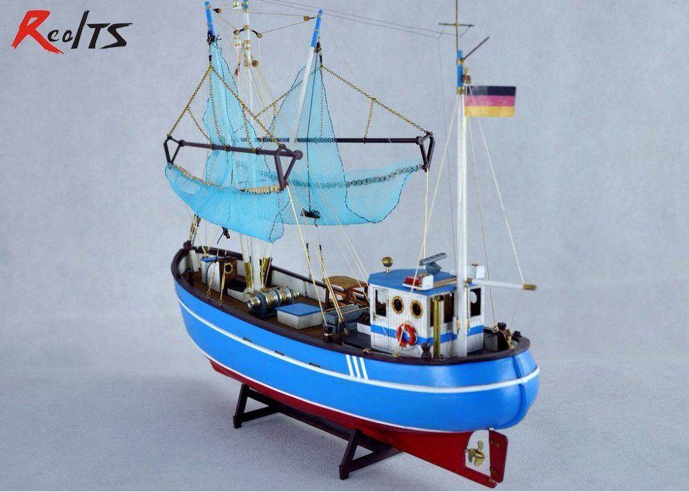 Pellworm Modern Crab Fishing Boat Scale 1 48 Wood Model Ship