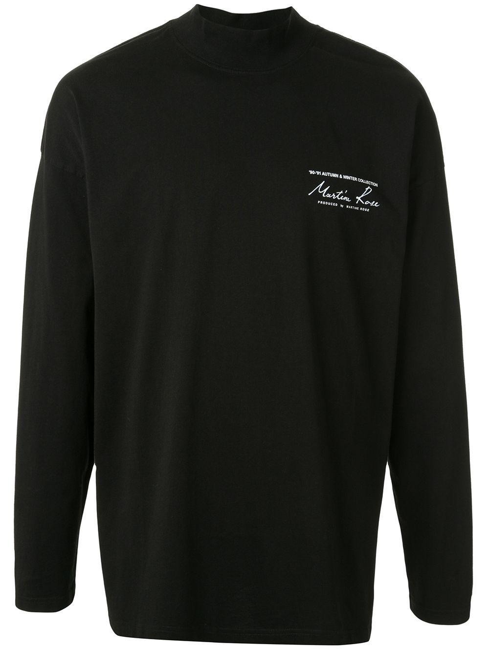 Martine Rose logo print T-shirt - Black in 2020 | T shirt, Cotton logo, Black cotton