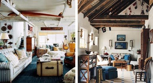 Coastal/Nautical Interior Design - These living rooms show how to ...