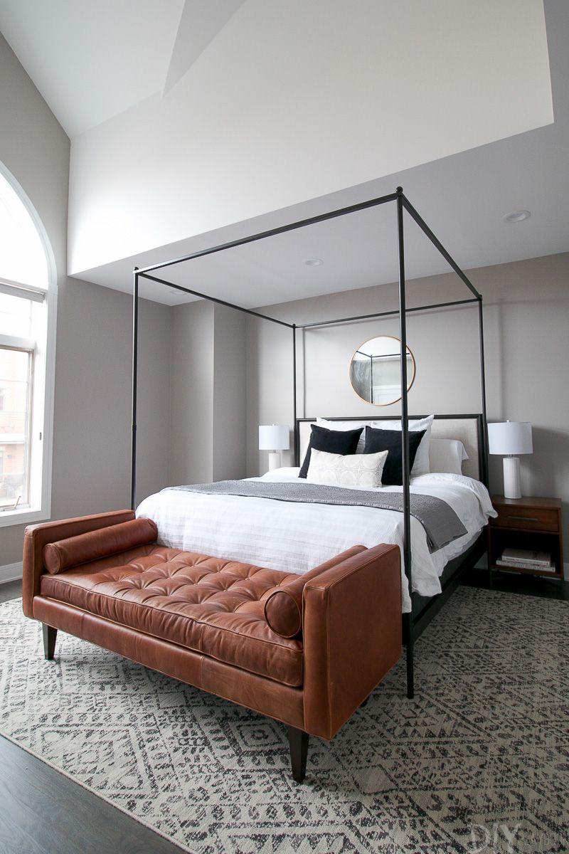 Modern Master Bedroom Design Makeover In Progress Avec Images