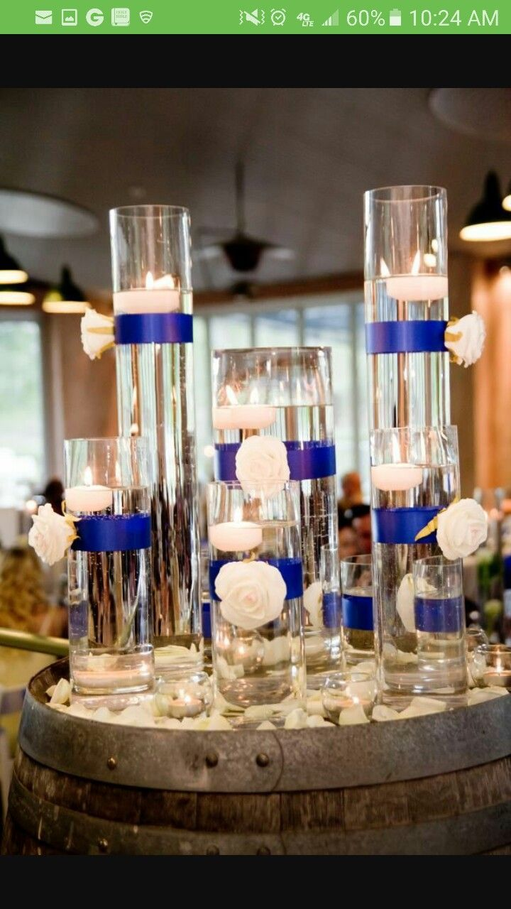 Wedding decorations royal blue  Pin by Shakeba Lausha on Weddings u Such  Pinterest  Wedding