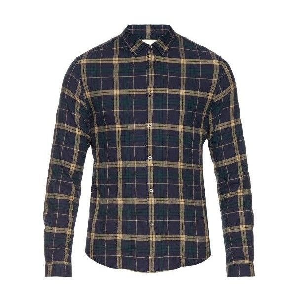 df7a3e81a Gucci Checked cotton-flannel shirt ( 395) ❤ liked on Polyvore featuring  men s fashion