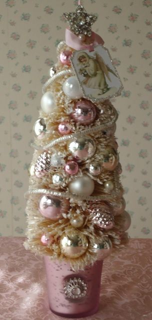 French christmas tree!!! Bebe'!!! Celebrating a French pink Christmas!!!