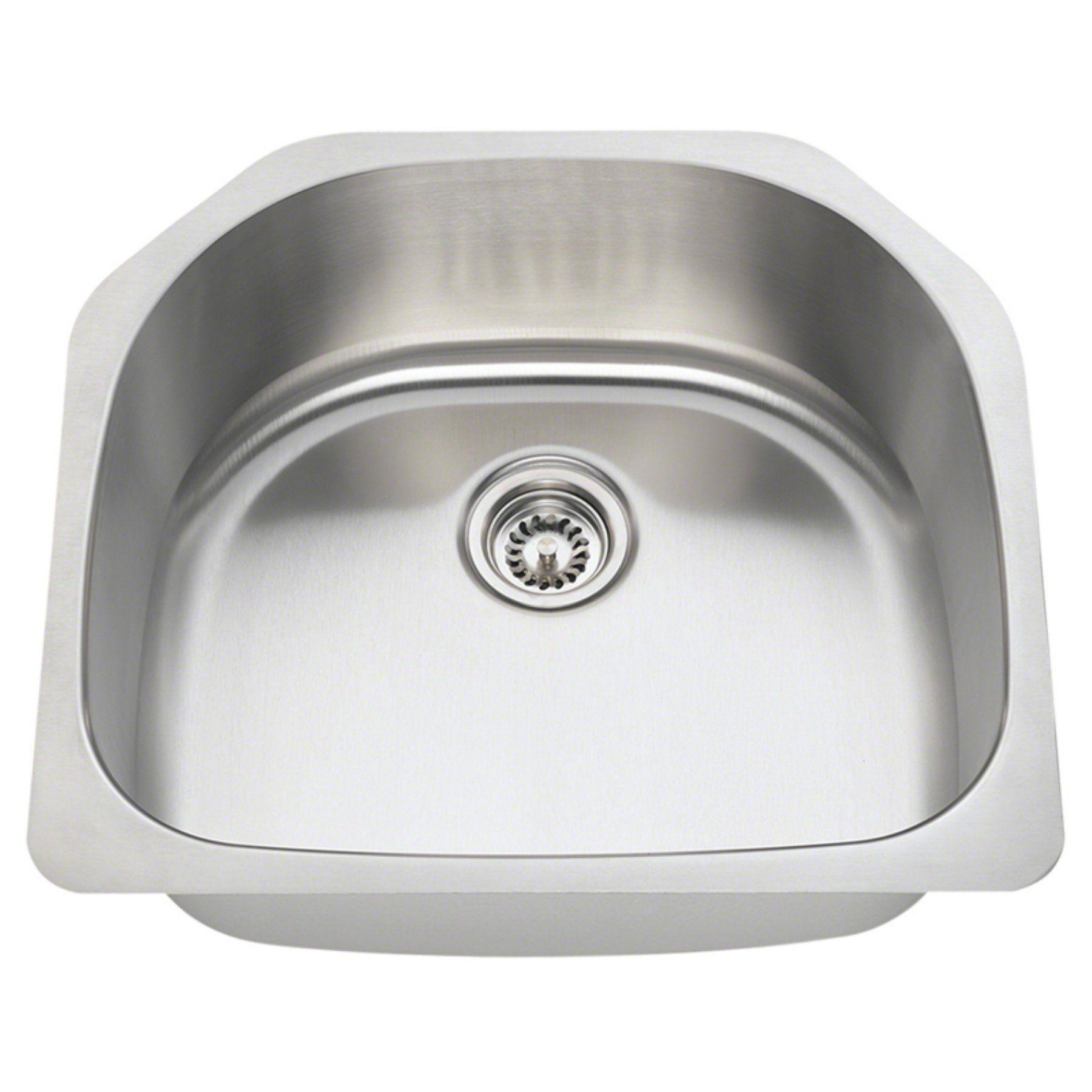 Polaris Sinks P1242 Single Basin Undermount Kitchen Sink P1