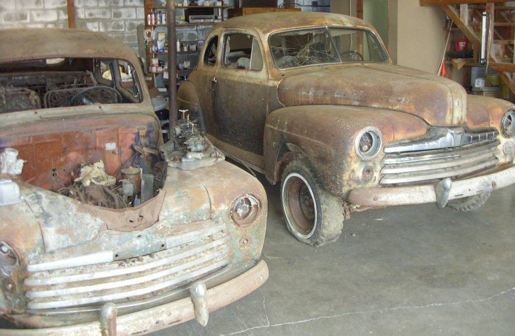 Barn Find Twins 1947 And 1948 Ford Club Coupes With Images