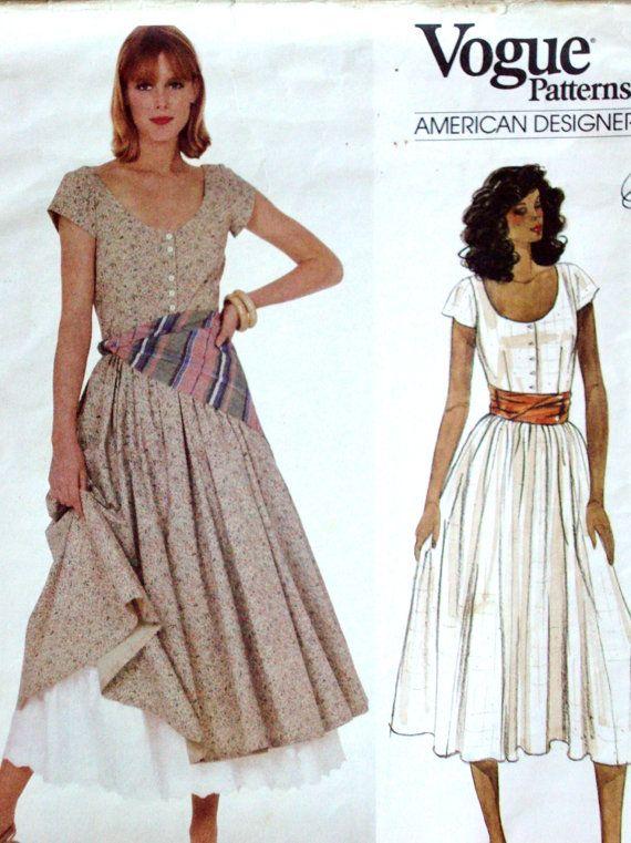 Vintage 80s Ralph Lauren Dress Pattern Prairie By Mysoftparade 15 00