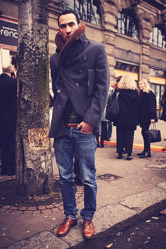 1000  images about Men's Peacoat Style on Pinterest | Cuffed jeans