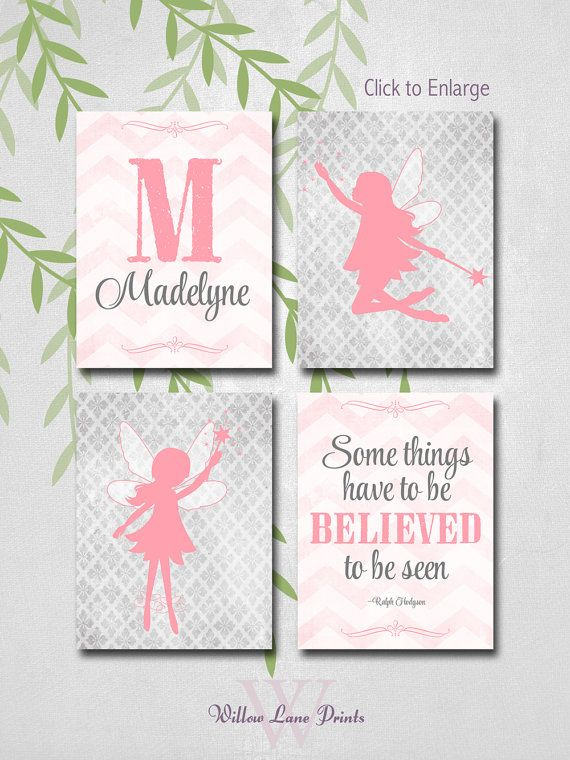 Baby Girl Wall Art Ideas kids wall art, fairy baby nursery decor, little girls room art