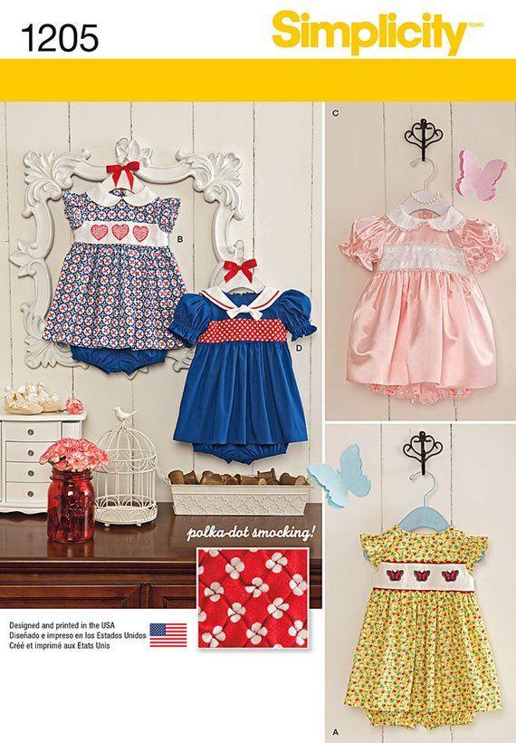 BABY DRESS PATTERN - Polka Dot Smocking or Cross Stitch Panel ...