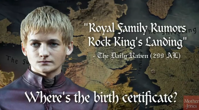 'Game Of Thrones' Political Attack Ads Finally Asks, 'Where's The Birth Certificate, Joffrey?'
