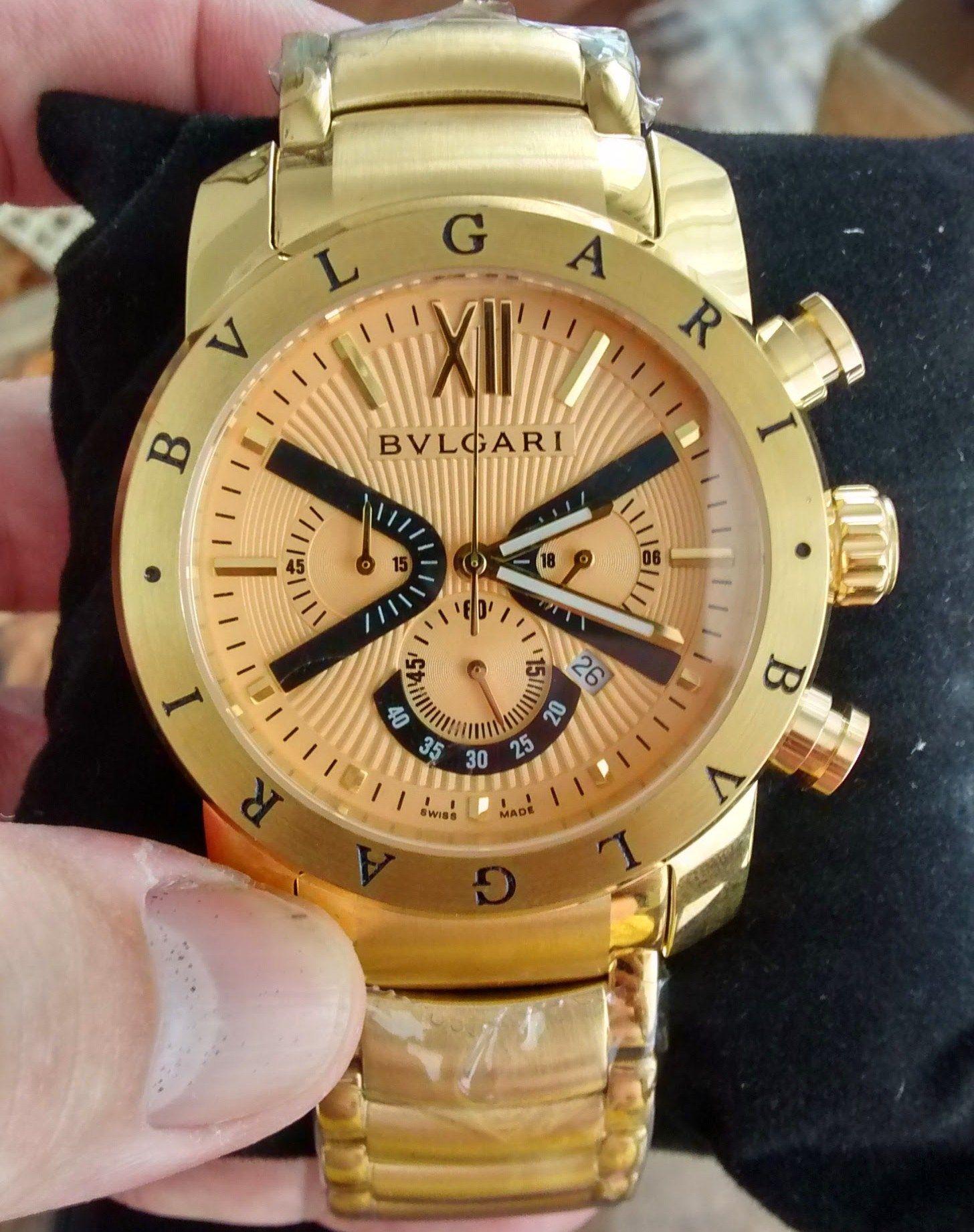 af0e56bba9d Lindo Relógio Bvlgari Dourado Modelo Iron Man ( Homen de Ferro ) Acesse  www.w3shopimport.com e compre o seu.  bvlgari  bvlgari ironman  relogios ...