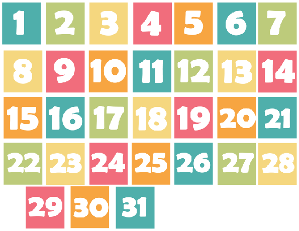 photograph relating to Printable Calendar Numbers referred to as Spring Motivated Calendar times printable Verylegendaryee