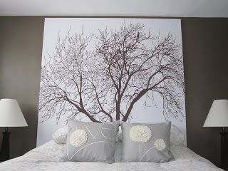 Headboard Of A Shower Curtain And Wooden Frame