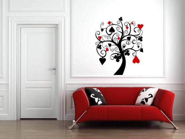 Poker Wall Mural   Ƹ̵̡Ӝ̵̨̄Ʒ Poker Tree Wall Decal Art Wall Sticker Decor .