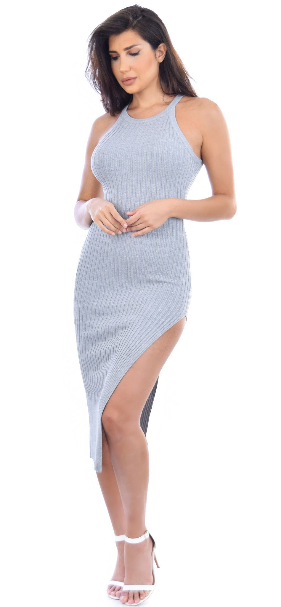 c86c11b86 ... Ribbed - High side slit - Stretchy - Unlined - No closure Model is 5 8