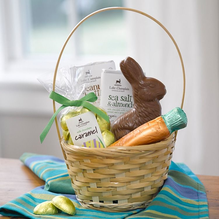 Classic milk chocolate easter basket easter chocolate