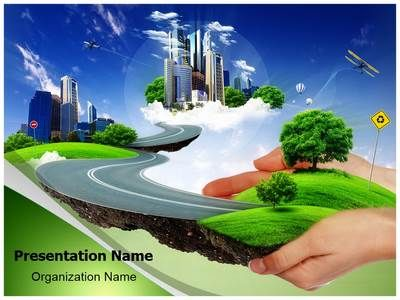 Check out our professionally designed #Green City #PPT #template - nature powerpoint template