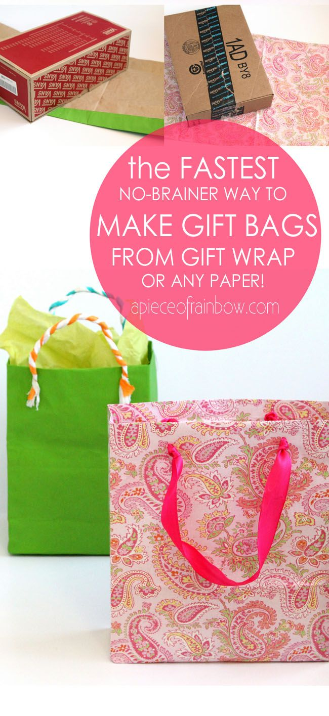 Make your own gift bags out of wrapping paper old calendars fastest easiest way to make gift bags from any paper negle Choice Image