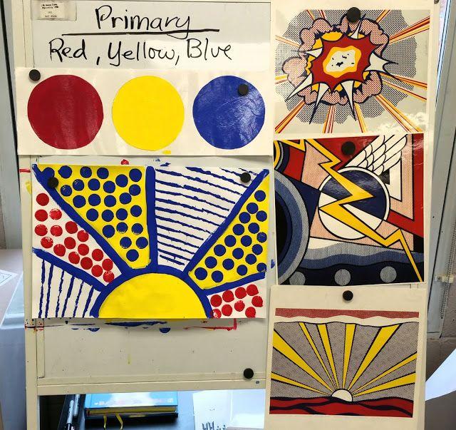 Paintbrush Rocket Kindergarten Lichtensteins In Primary Colors Color UnitPreschool Art ProjectsKinder