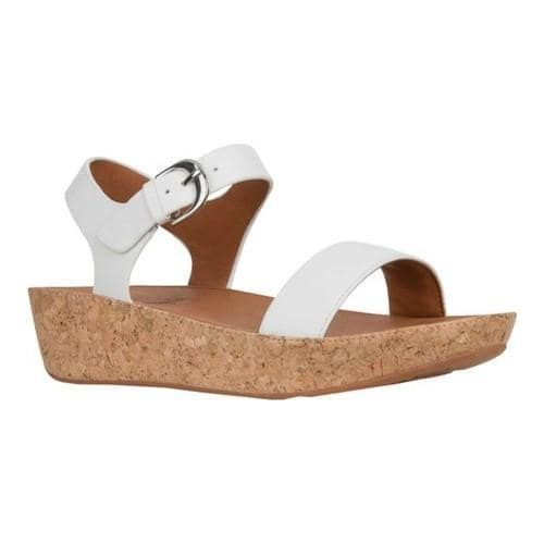 6653daf5a45f Women s FitFlop Bon II Two Piece Sandal Urban White Leather (US Women s 7 M  (Regular))