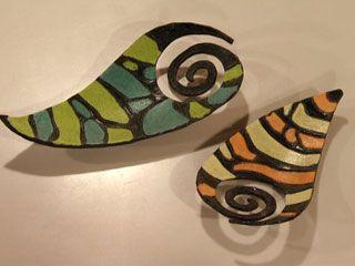 Cuencos tricolor con pasta de papel mache 1 preparar la for Utilisima espejos decorados