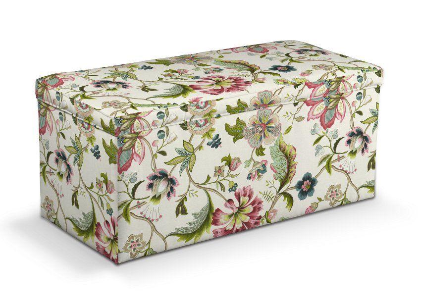 Skrzynia Tapicerowana Kolorowe Kwiaty Na Jasnym Tle 120x40x40 Cm Dekoria Dekoria Decorative Boxes Decor