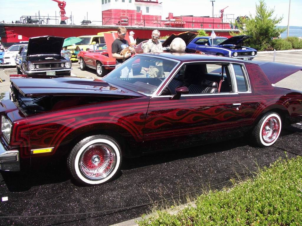 Lowrider Candy Wineberry Paint With Flames And Graphics