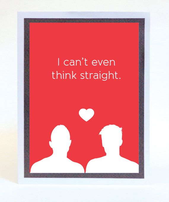 Funny Illustrated Gay Valentines Day Card – San Valentines Cards