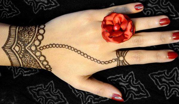 Simple Wrist Mehndi : Simple mehndi designs wrist design back hand