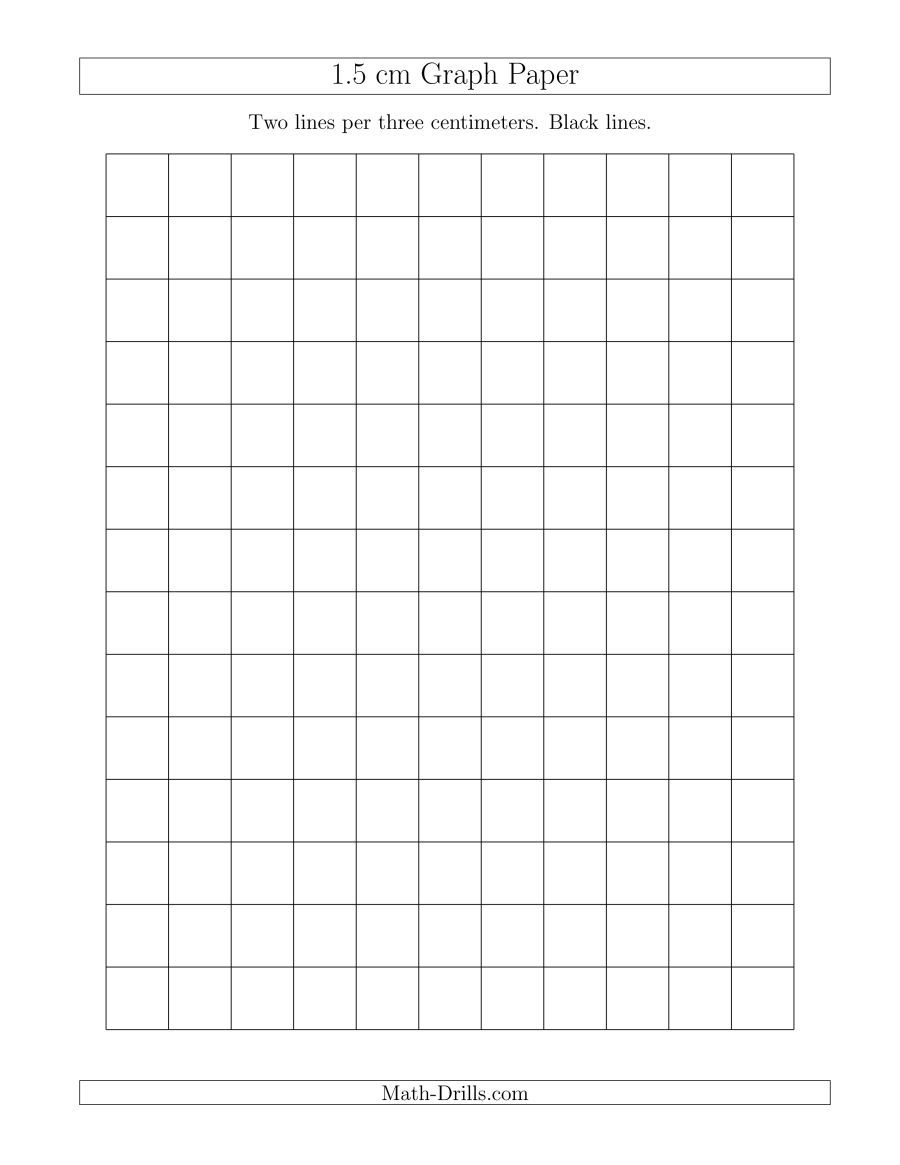 The 1 5 Cm Graph Paper With Black Lines A Math Worksheet From The Graph Papers Page At Math Drills Com Graph Paper Printable Graph Paper Graphing [ 1165 x 900 Pixel ]