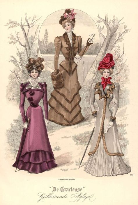 Fashion plate from De Gracieuse, 25 jan 1899