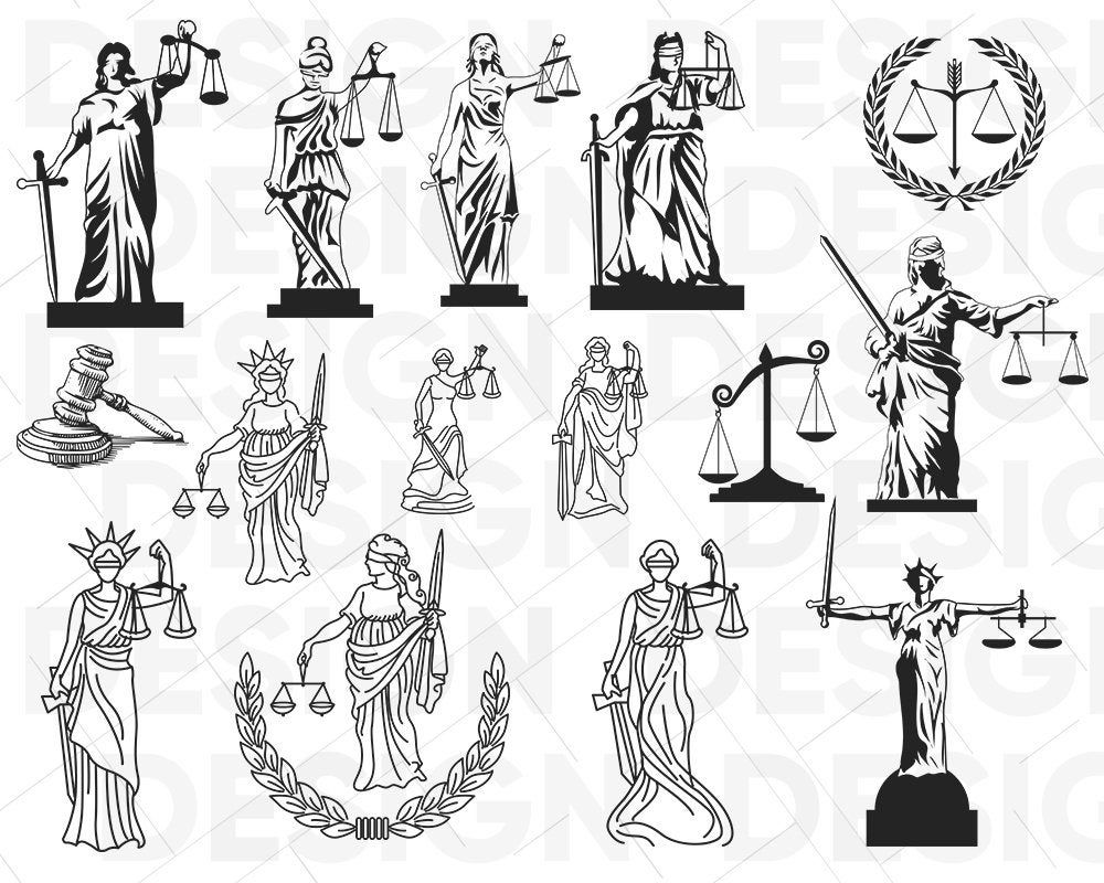 Lady Justice Svg Justice Svg Gavel Svg Law Svg Court Svg Tribunal Svg Cricut Cameo Silhouette Vinyl Decal Stencil Clipart Dxf Justice Tattoo Lady Justice Lawyer Tattoo
