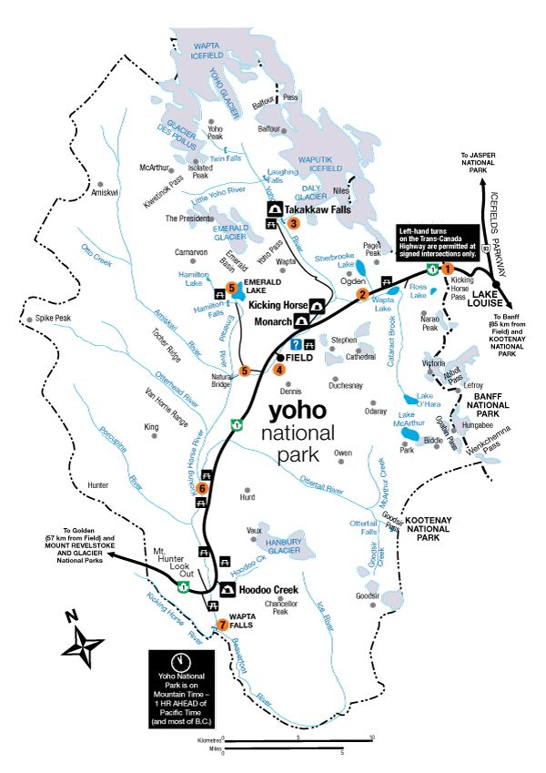 Yoho National Park Canada Map 4 Best Hikes in Yoho National Park in 2020 | Yoho national park