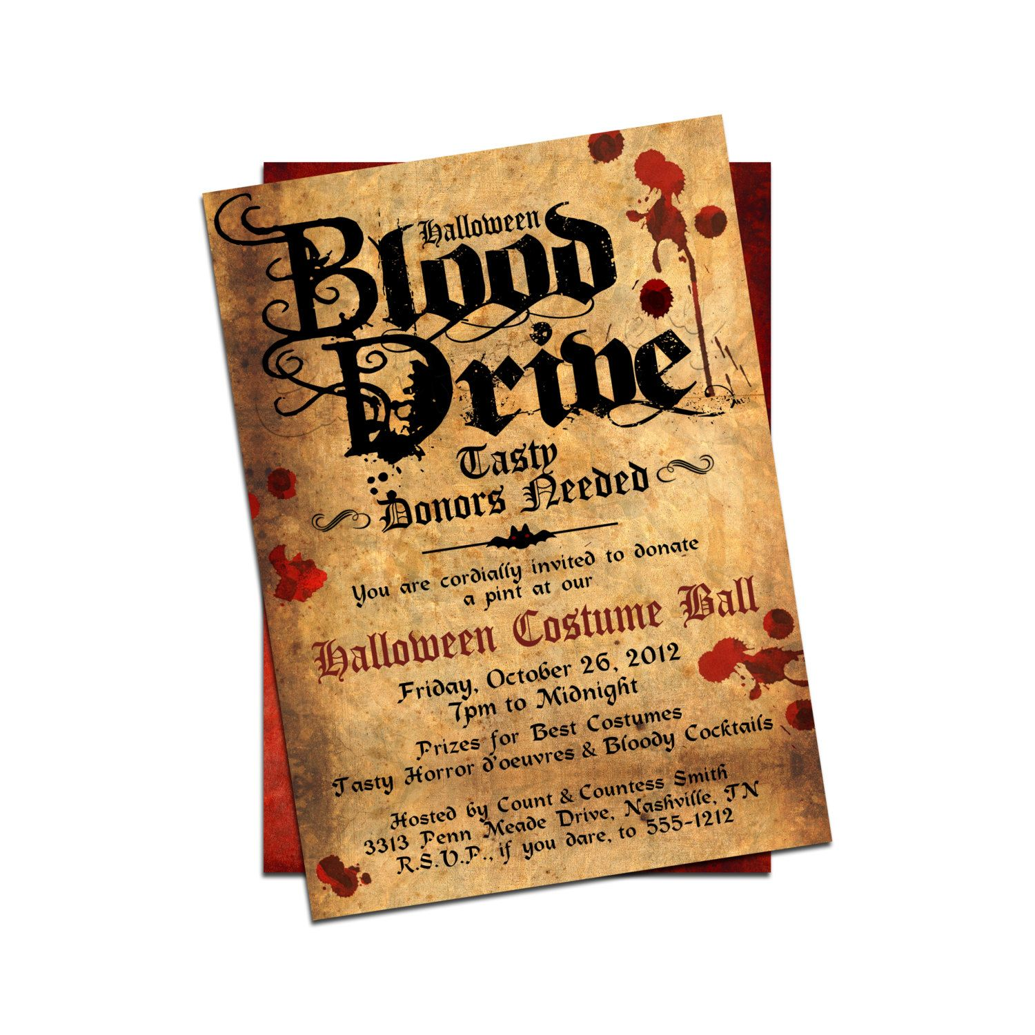 Fun ideaHalloween Invitation by Cardfectionery on Etsy