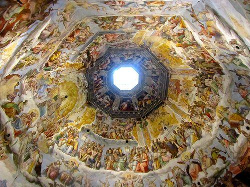 Firenze - Santa Maria del Fiore - Cupola del Brunelleschi: Affreschi di Giorgio Vasari