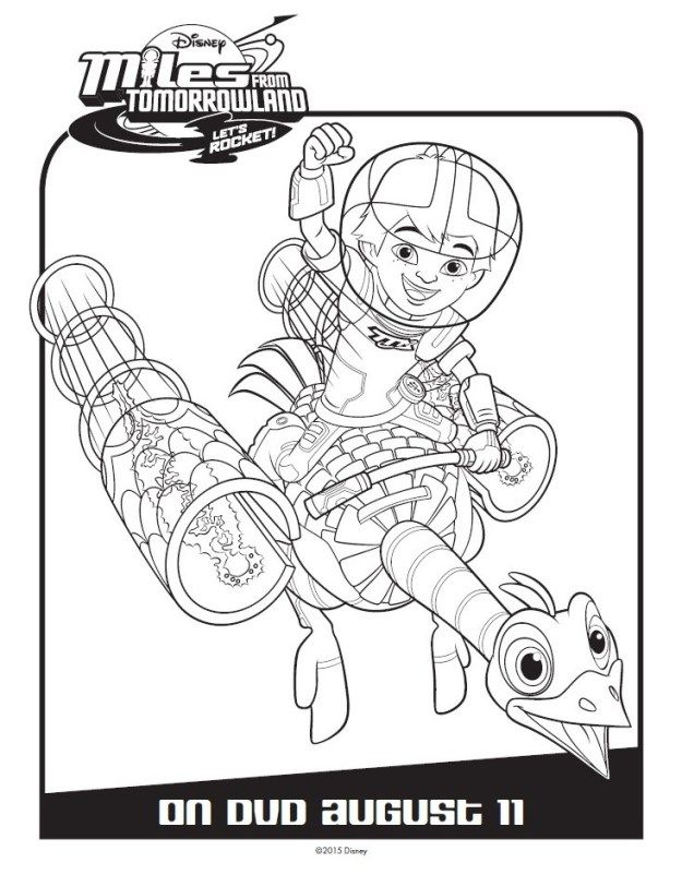 miles from tomorrowland coloring pages Miles From Tomorrowland Activity & Coloring Pages | Disney  miles from tomorrowland coloring pages